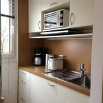 Kitchen with induction stove