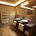 Badezimmer der Gampenkogel Lodge